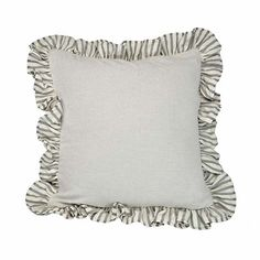 A ruffle pillow case inspired by the French countryside, but made in America from American-grown cotton.