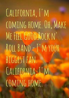 Joni Mitchell lyrics for California.