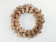 Cardboard wreath: Forgo the real thing for this just-as-pretty arrangement.