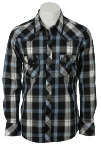 Rock and Roll Cowboy. I LOVE these plaid button-ups when their sleeves are rolled halfway