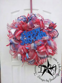 Just reduced!! You can't beat FREE SHIPPING 4th of July Wreath Uncle Sam by DesignsbyJordanTX, $95.00
