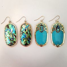 Add some color to your weekend look with abalone shell in Kendra Scott Danielle and Deva Earrings!