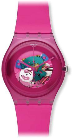 Swatch New Gent - Pink Lacquered SUOP100: Amazon.de: Uhren