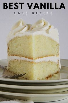 This vanilla cake recipe is the ultimate vanilla dessert! It's from @iambaker and it tastes like the very best vanilla bean ice cream in cake format! Make it your next birthday celebration!