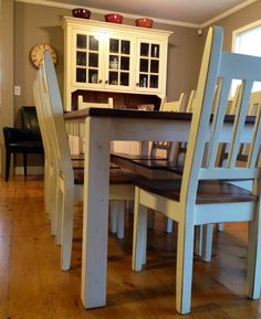 how gorgeous is this dining table and chairs modern country