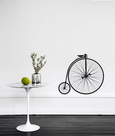 Wall sticker riding on the baseboards...