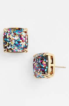 Glitter Stud Earrings, $38 | 37 Awesome Things You Need To Put On Your Wishlist Immediately