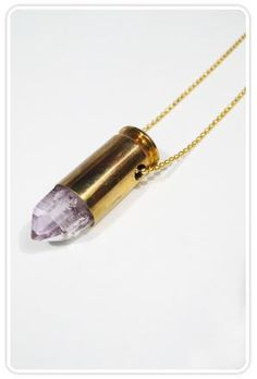 Franklin and Swann Large Crystal Bullet on Chain at ShopGoldyn.com
