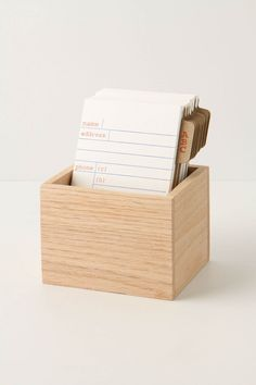 Address file or could use cards to keep up with books you have lent (so they can come home).