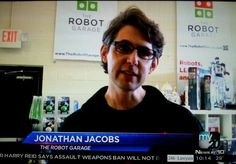 The Robot Garage featured on Channel 20 news.