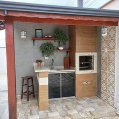 Home Design Decor, House Design, Patio Design, Backyard Patio, Outdoor Patios, Outdoor Rooms, Outdoor Living, Kitchen Remodel, Kitchen Design