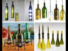 150 Ideas Para Reutilizar y Reciclar, VIDRIO. Convertir - YouTube