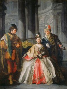 Louis-Joseph Le Lorrain  Three Figures Dressed for a Masquerade, c. 1740s  Samuel H. Kress Collection