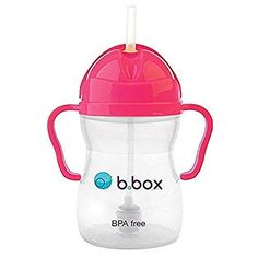 b.box Sippy Cup, Pink Pomegranate, One Size - The perfect cup at home or on the go. Tots can drink at any angle thanks to the innovative weighted straw. Encourages independence with easy-grip handles and simple flip-top lid. Ideal transition to milk in a cup. BPA, Phthalates and PVC free. Weighted straw moves with the liquid, whatever angle ...