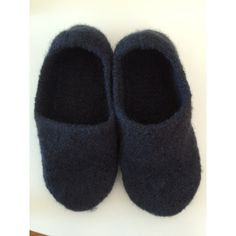 Knitted Felted Wool Slippers, Knitted Blue Slippers, Knitted House... (155 PLN) ❤ liked on Polyvore featuring men's fashion, men's shoes, men's slippers, mens blue shoes, mens shoes and mens slippers