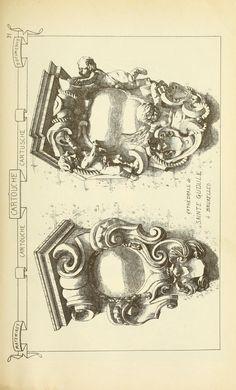 """Cartouche from """"Materiaux et Documents d'Architecture et de Sculpture"""" Volume 3, page 31"""