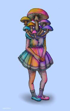 mushrooms in a dress by flowwwer