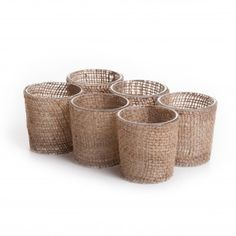 Burlap Wrapped Glass Votive Candle Holder (Set of 6) [402511 Natural Burlap Cloth] : Wholesale Wedding Supplies, Discount Wedding Favors, Party Favors, and Bulk Event Supplies