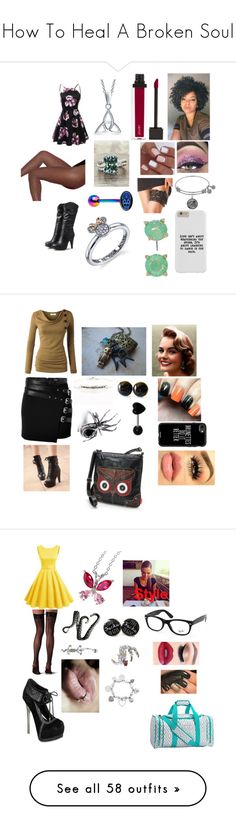 """""""How To Heal A Broken Soul"""" by rosemarie-lestrange ❤ liked on Polyvore featuring Bling Jewelry, Jouer, Vera Bradley, Disney, The Kooples, Colorful Shoes, Casetify, Be Love, UNIONBAY and Falke"""
