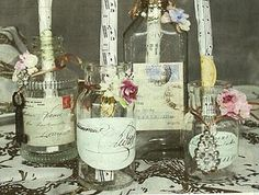 ~ vintage letter postcard jar collection