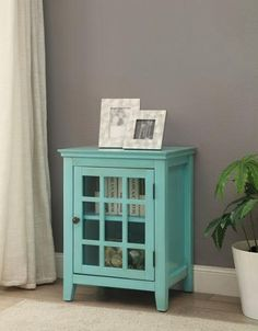 Look at this Linon Home Turquoise Largo Antique Single-Door Cabinet on today! Sofa End Tables, End Tables With Storage, Antique Cabinets, Single Doors, Double Doors, Turquoise, Home Decor Styles, Decoration, Decorative Items