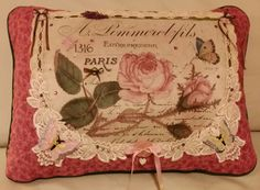 PILLOW ART by LEE Handmade Romantic Pillow by DesertMoonQuiltCo