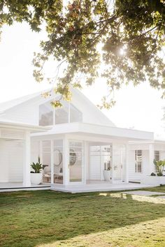 all white farmhouse exterior all white everything white farmhouse exterior with brick White Farmhouse Exterior, Modern Exterior, Exterior Design, White Exterior Houses, White Beach Houses, Beach Cottage Style, Hamptons House, White Cottage, Coastal Cottage