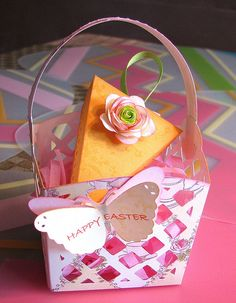 Cricut Easter Basket with 3D Carrot Box. Tags Bags Boxes and More 2 and Tie the Knot Cartridges. *