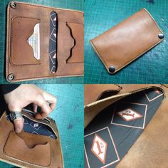 Leather wallet 1%er insidie