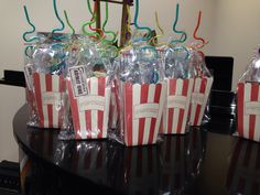Movie theme party favors....I am going to do a scavenger hunt to find everything!