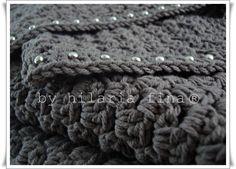 Crochet Skull Studded Scarf / Shawl. 100% Cotton  https://www.facebook.com/hilaria.fina