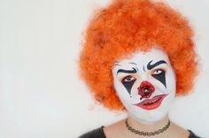 Halloween Make Up: Horror Clown #Halloween #Look #Costume #Idea #Clown #Makeup spooky Clown Nose - by ViktoriaSarina Youtube Tutorial https://youtu.be/bpVkKhjjwxk