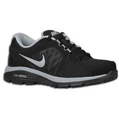 Nike Dual Fusion Run - Women's - Black/Metallic Silver/Wolf Grey