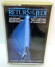 7.95 Star Wars Return of the Jedi Soundtrack Cassette Tape 1983 Lucasfilm Vtg #StarWars #ReturnOfTheJedi #CassetteTaoe #Soundtrack #80s