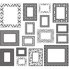 Jonathan Adler Black & White Frame Wall Decals ($43) ❤ liked on Polyvore featuring home, home decor, fillers, frames, backgrounds, stuff, borders, picture frame, jonathan adler and black and white home decor
