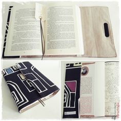 Book Cover. Fabric exterior and interior 100% cotton. Structured with vieseline.