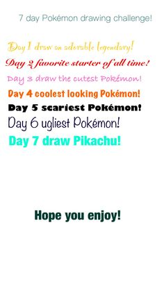 Pokemon drawing challenge I made I want somebody to do it...: Credit-Hyrulean Pikachu