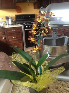 Charming Kitchen orchid details at The Beehive in Chester Springs, PA. Designed and built by Matthew Comiskey.
