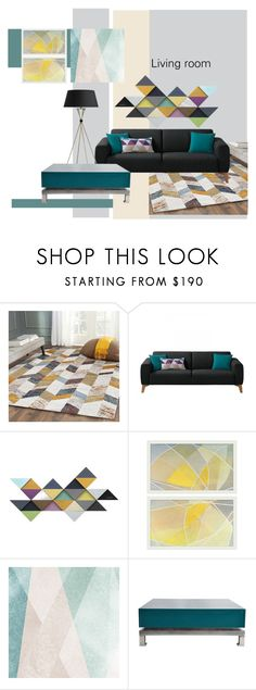 """Living room"" by mashenka-zlobina ❤ liked on Polyvore featuring interior, interiors, interior design, home, home decor, interior decorating, Pottery Barn, Sandberg Furniture, Maison Jansen and living room"