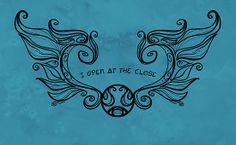 I open at the Close....Black version by Karen Hallion