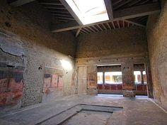 Villa of the Mysteries, Pompeii - atrium.