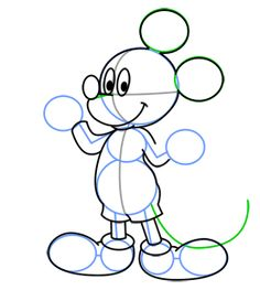 how to draw a simple cartoon mouse