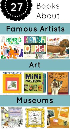 upon kids' natural love of art with these books about famous artists, art, and museums.Build upon kids' natural love of art with these books about famous artists, art, and museums. Art Books For Kids, Childrens Books, Art For Kids, Toddler Books, Ecole Art, Art Curriculum, Preschool Books, Art Lessons Elementary, Children's Literature