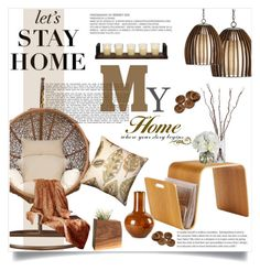 """""""Lets stay Home"""" by einn-enna ❤ liked on Polyvore featuring interior, interiors, interior design, home, home decor, interior decorating, Dot & Bo, Holiday Lane, Diane James and Tozai"""