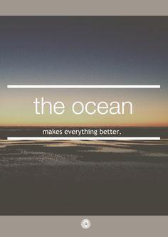 One of my favorite things / being at the ocean.
