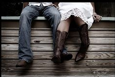 flower girl wearing the brides cowboy boots - Google Search