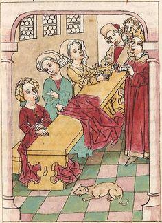 Antonius <von Pforr> Buch der Beispiele der alten Weisen — Oberschwaben, um 1475 Cod. Pal. germ. 466 Folio 221r