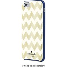 kate spade new york - Case for Apple® iPhone® 6 - Gold Foil/Cream/French Navy - Front Zoom