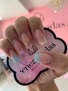 Rainbow Nails, Trendy Nails, Pedicure, Nail Designs, Hair Beauty, Glitter, Ideas, Gorgeous Nails, Work Nails