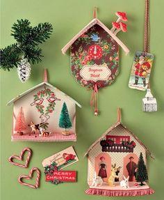Des coucous en trompe l'œil pour Noël, bricolage avec les enfants / Cuckoos in trunk the eye for Christmas, do-it-yourself with the children
